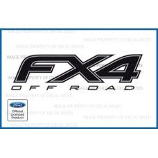 Ford F150 FX4 Off Road Decals Black Blackout Truck Stickers (2012-2014) - FBLK
