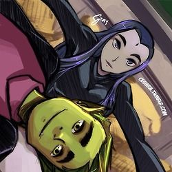 beast boy and raven. my favorite couple to ship like, ever.