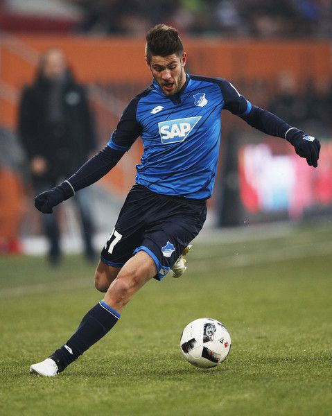 Andrej Kramaric of 1899 Hoffenheim in action during the Bundesliga match between FC Augsburg and TSG 1899 Hoffenheim at WWK Arena on January 21, 2017 in Augsburg, Germany.