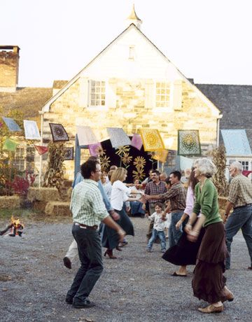 For a country party... a square dance!  How fun! I love the bandannas as decorations.  :)
