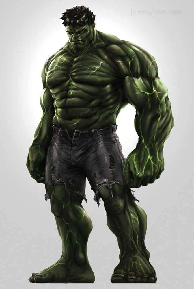 Liking the concept of Hulk's veins glowing in this Concept Art For THE AVENGERS Cancelled Video Game