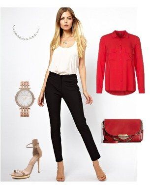 #red for a #spring #outfit / Asos, Kiomi, Burberry, Michael Kors, Givenchy | ladiesnotes