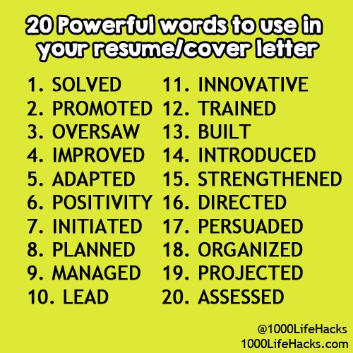 10 best cv images on Pinterest Cards, Plants and Creative curriculum - powerful verbs for resume