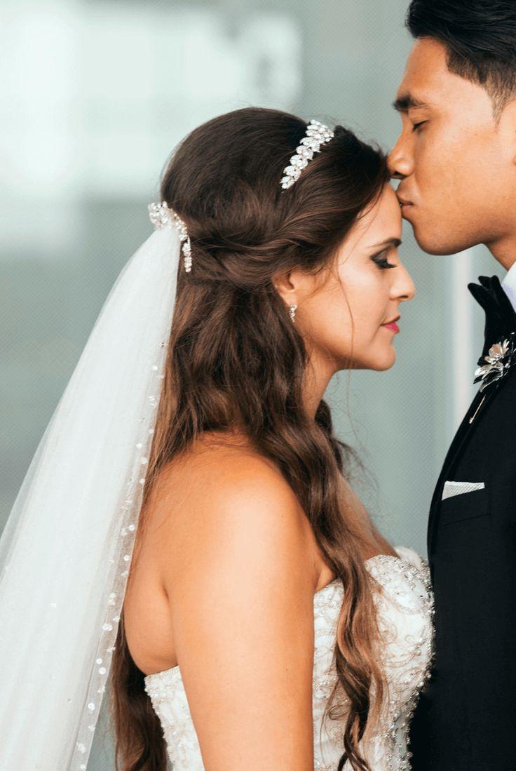 Brautfrisur mit Schleier: 30 Inspirationen Brautfr…