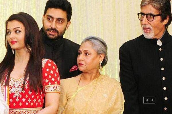 Amitabh, Aishwarya at Kunal Kapoor-Naina Bachchan's wedding reception