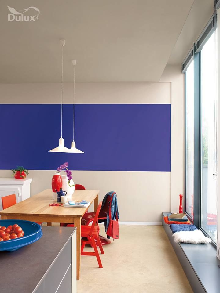 Plush velvet 3 is a sublime and modern purple make a statement with a large frame shape against a neutral wall for maximum impact. #colour #dulux #paint #inspiration #interior #passion