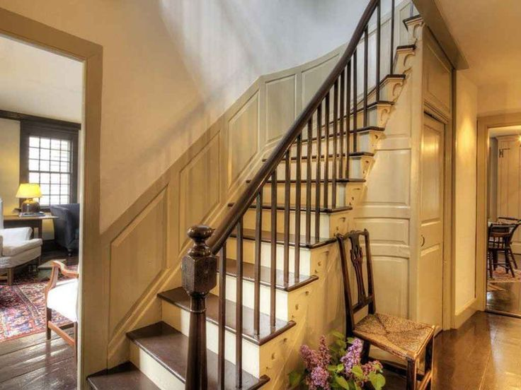 FARMHOUSE INTERIOR Nice Entry Staircase In A Stunning Farmhouse At 81 Second Street Newport Rhode Island