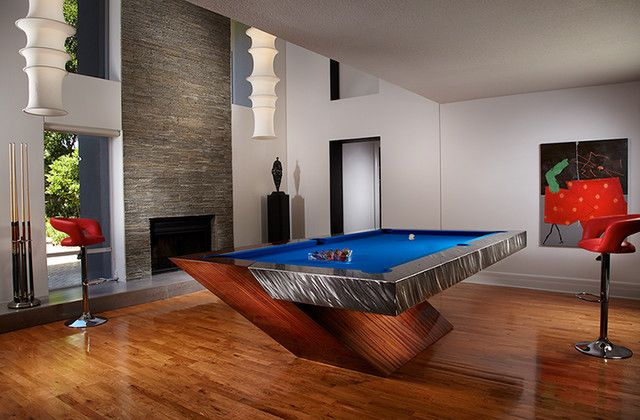 family room with catalina pool table