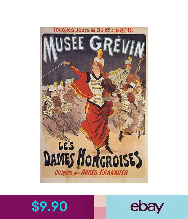 Old advertising Poster reproduction Musee Grevin