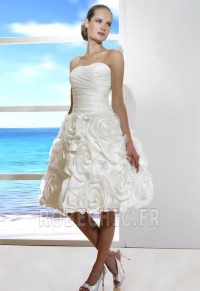 Robe de mariée Bustier Courte 2014 Poétique Dépouillé Jardin