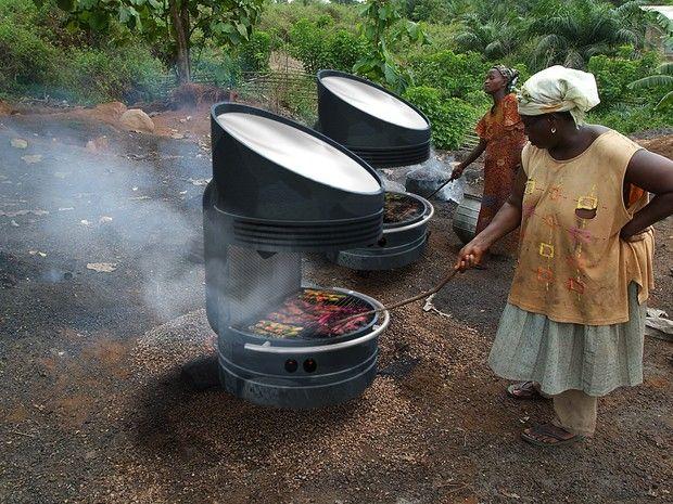 Churrasqueira solar assa alimentos sem carvão