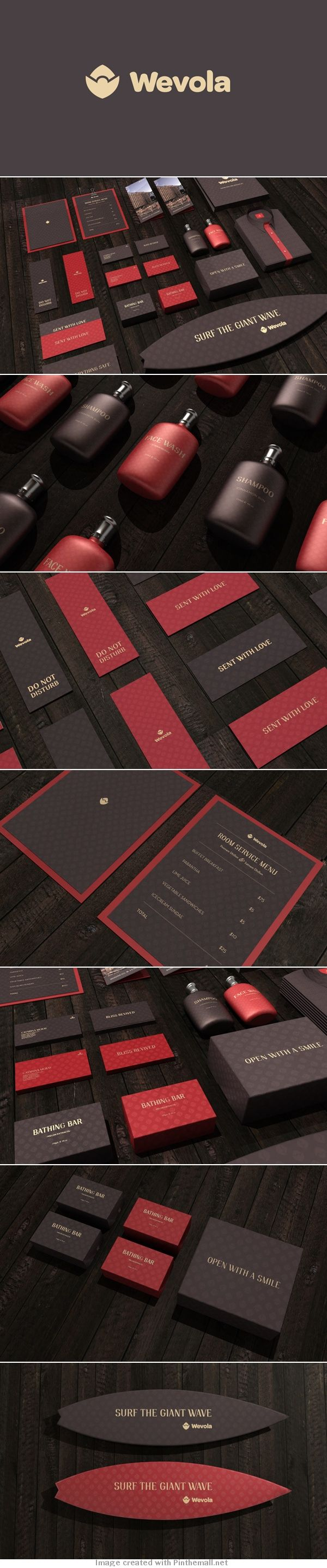Wevola Hotel by Jekin Gala simple and lovely #identity #packaging #branding PD