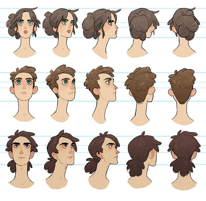Character Design Hairstyles : Best images about character pose turn head on