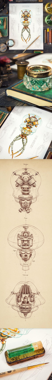 Insignias y las ilustraciones de Behance