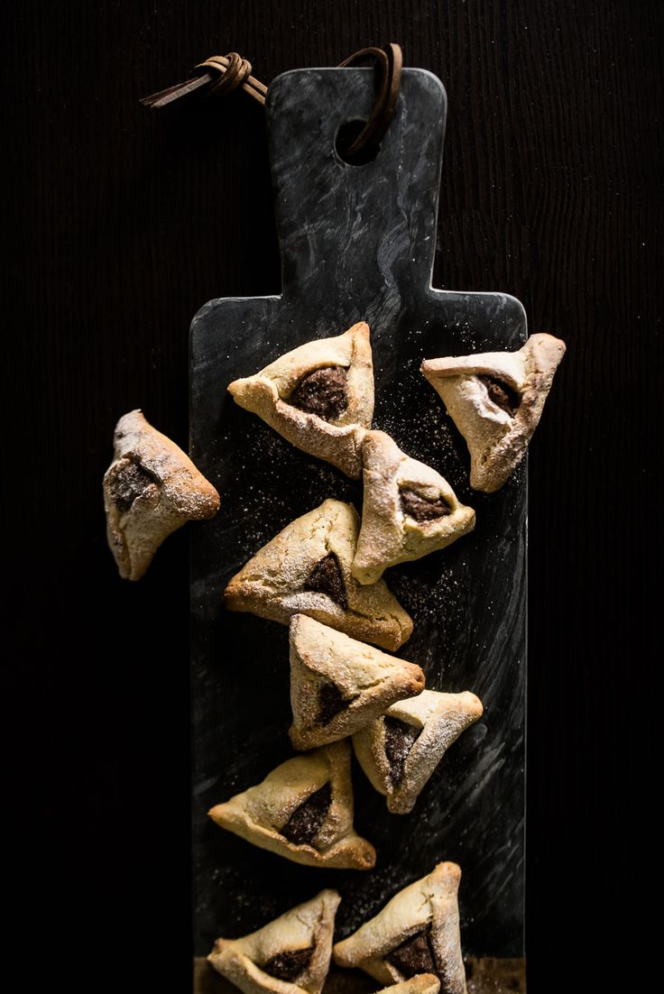 Orange Zest Hamantashen with Dark Chocolate Filling / the kosher spoon