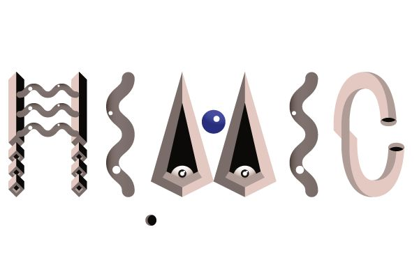 """Mimic"" la #typographie hallucinogène créée par Beta #typo #graphic #design"