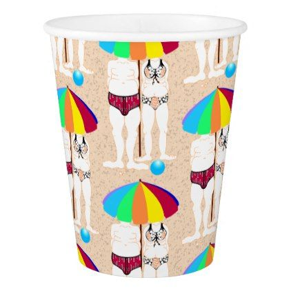 #Summer Beach Tropical Vacation Holiday Party Paper Cup - #drinkware #cool #special