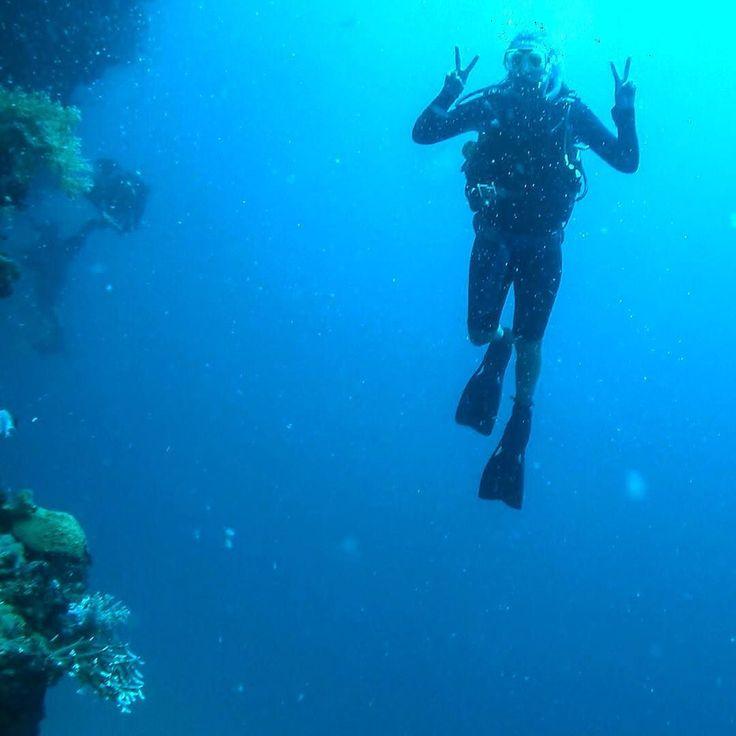 Idag har jag och bruden i bild bott i Australien i 6 månader  På bilden visas Maggan feat det stora barriärrevet där brevid. Precis efter bilden togs såg vi en white tip Reef shark på cirkus 2 m vilket ledde till att maggisen bröt mot några djupgränser... Oopsie...  #yolo #dive #maggansominteharinsta #greatbarrierreef by sarahkarlo http://ift.tt/1UokkV2
