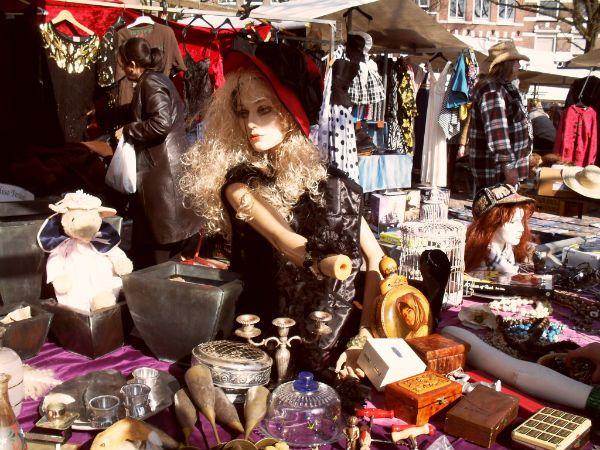 Vintage Thrifting at the Noordermarkt in Amsterdam.