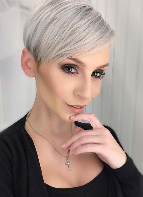 Short Hairstyles for Women: Silver Pixie #shorthairstyle #hairstyle http://tinkiiboutique.com/