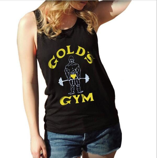 Tank Top Women Golds Vest Fitness Singlets Bodybuilding Stronger Clothing Sexy Tank Tops Female Shirt Undershirt Clothes