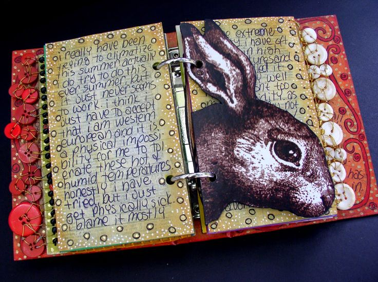 """Ingrid Dijkers - """"Over The Edge"""" A journaling workshop offering an exploration in page edges and page shapes"""