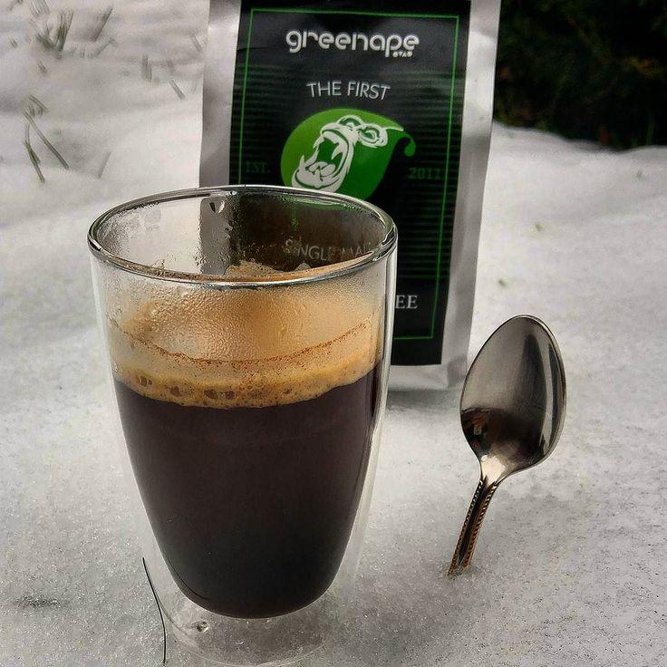 Ein doppelter Schneepresso! #alex #kaffee #espresso #doppelt #eis #zimt #zucker #advent greenape.life/WhiskyCoffee #greenape #nord #niedersachsen