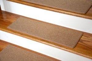 """Dean Non-Slip Tape Free Pet Friendly DIY Carpet Stair Treads/Rugs 27"""" x 9"""" (15) - modern - Rugs - Dean Flooring Company, LLC"""