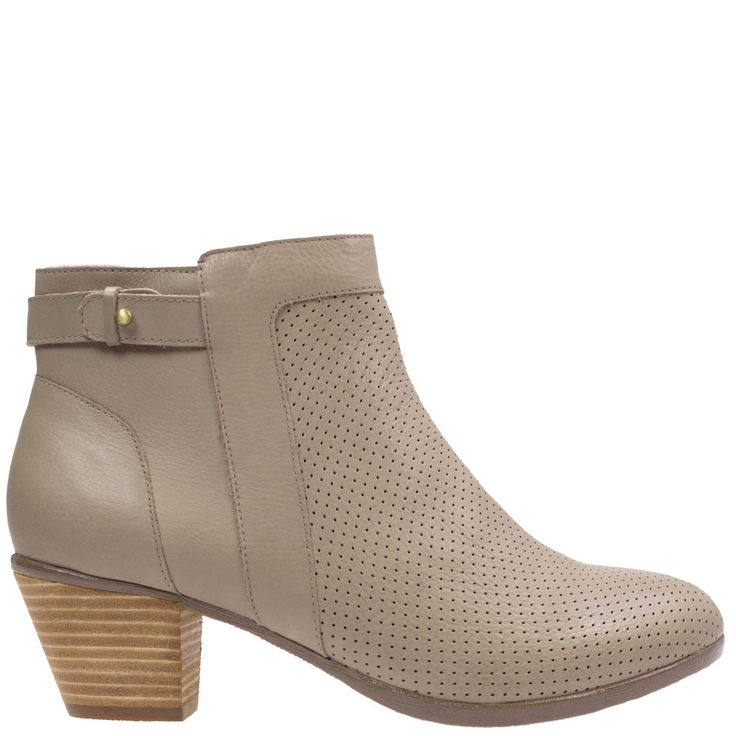 Genie by Hush Puppies is a practical ankle boot with a stylish perforated leather upper, great lines and a stacked heel. We know Genie will be a popular choice this season. Available at Rosenberg Shoes in taupe and black and sizes AU 10-12.