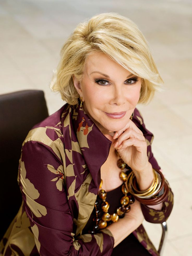 Joan Rivers - (1933 -2014) American actress, comedian, writer, producer, and television host