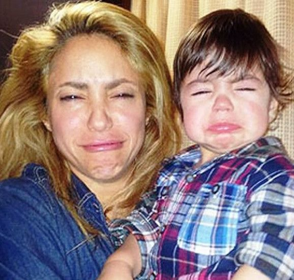 Shakira gave her young son, Milan, a Christmas gift that it literally sent the boy into a raging fit. It is safe to say the boy was unimpressed with his brand spanking new, WOODEN DOG AND STICK.  Here we see the singing couple revealing the wooden dog