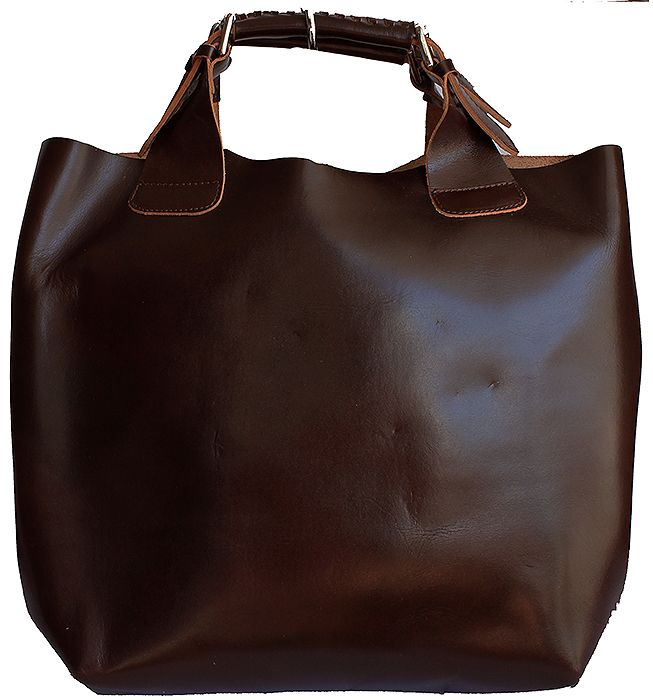 Italian Dark Brown Leather Tote/Shopper Handbag - Down to £49.99 from £79.99