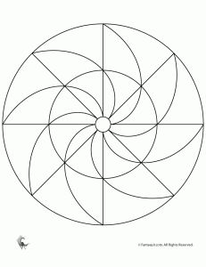 Easy Printable Mandala  These actually fit on the page to print off!