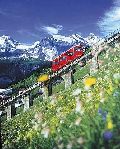 Allmendhubel-Bahn, Berner Oberland, Schweiz