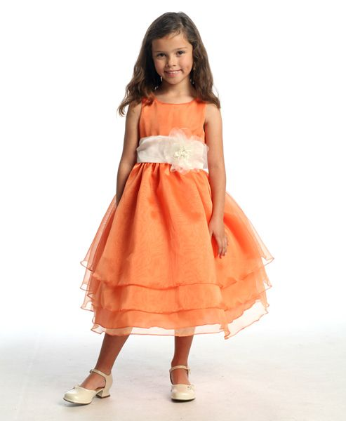 9 best images about Orange Girls Dresses on Pinterest ...