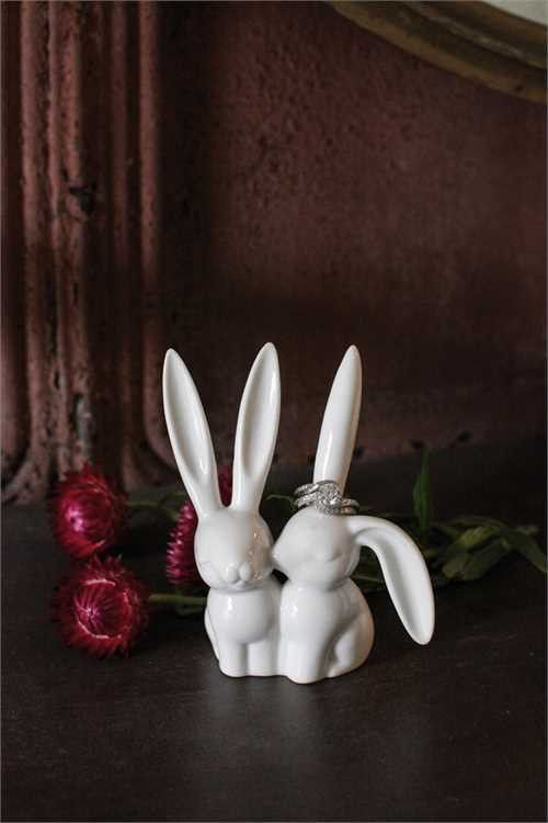 Ceramic Bunny Rabbit Ring Holder – First of a Kind