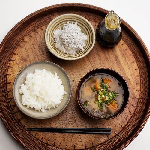 Japanese Breakfast, Shirasu Daikon & Miso Soup