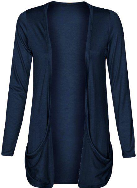 Amazon.com: Fashion Wardrobe Womens Drop Pocket Boyfriend Open Cardigan Plus Size: Clothing