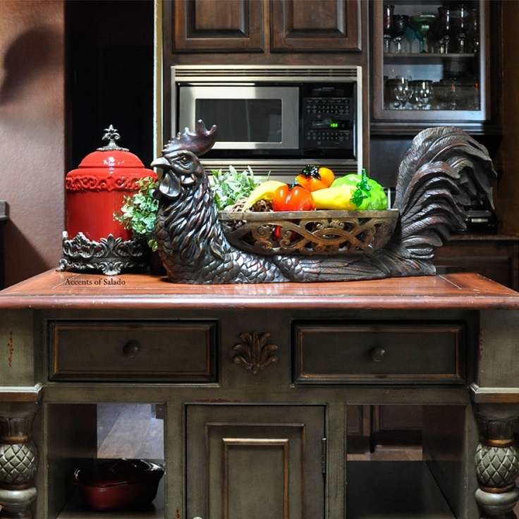 This is awesome!!!: Roosters Extra, Decor Accesories, Decor Ideas, House Ideas, Large Roosters, Kitchens Roosters, Decor Tables, Roosters Baskets
