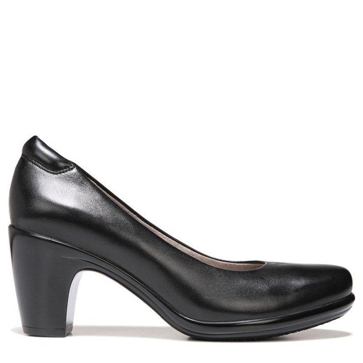 Naturalizer Women's Venecia Narrow/Medium/Wide Pump Shoes (Black Leather)