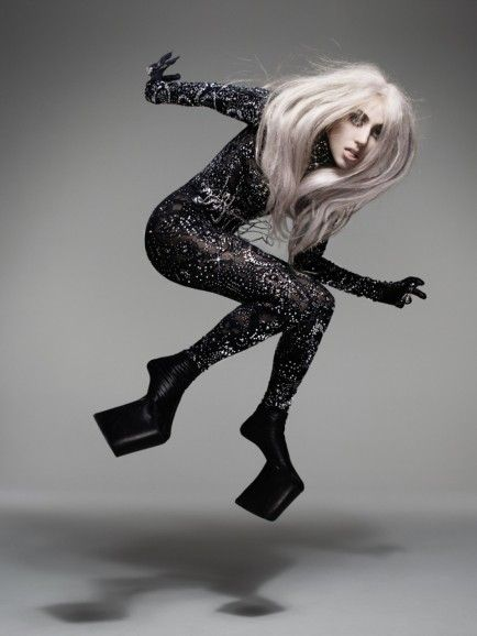 Lady Gaga by SHOWstudio in extreme Platforms by Noritaka Tatehana Shoes
