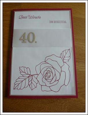 Kreatives aus Papier Stampin Up Karte Rubinhochzeit