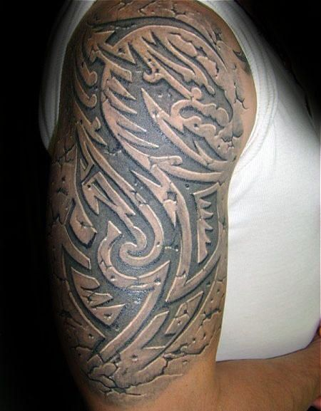 60 3d tribal tattoos for men - masculine design ideas   impressive