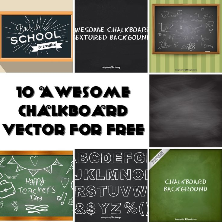Here is my list of awesome black and green chalkboard texture background in vector format, great for use in your chalk style design.