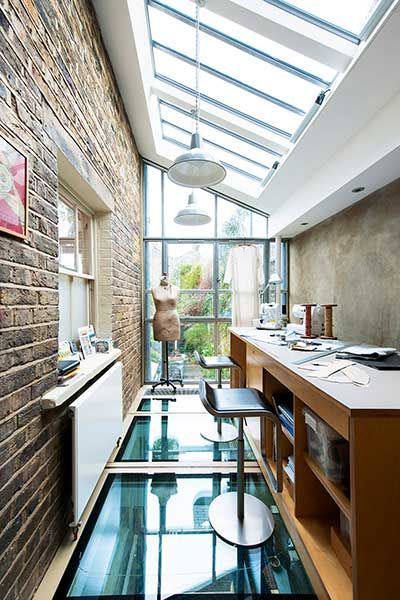 glazed london extension roof workspace