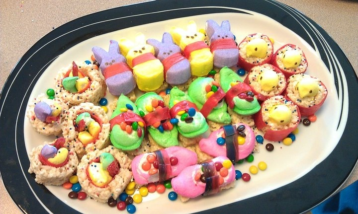 Peepshi!! Cute sushi made out of peeps and other sweets ...
