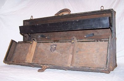 Wooden Tool Boxes For Sale | ... tool chest - brass trunk union vintage steampunk shop wood box For