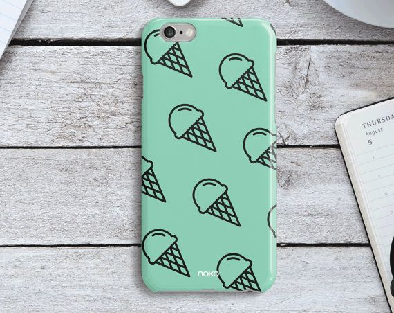 DESCRIPTION: NOKO Colourful Mint Ice Cream iPhone 6/6S & Plus Case  Designed in Italy - Made in USA  The case is made of transparent polycarbonate