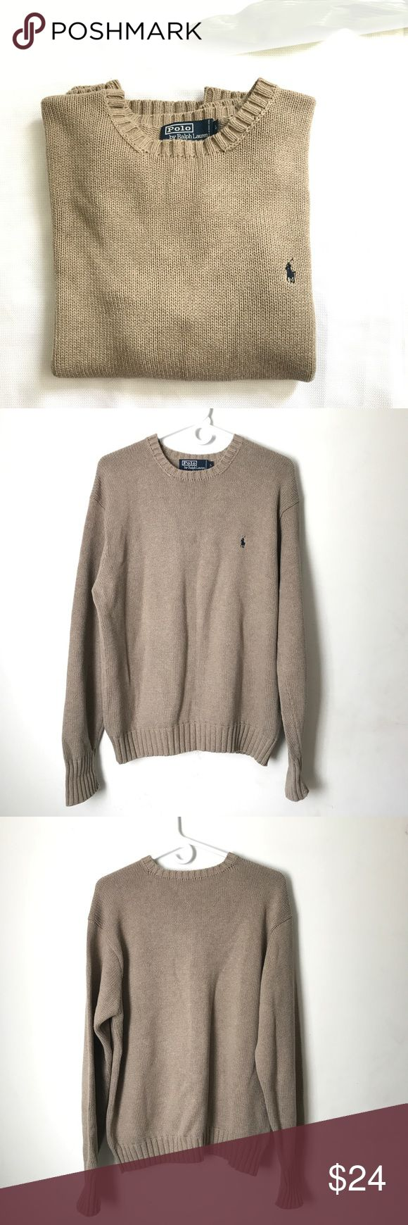 Polo Ralph Lauren Men's Sweater Pull Over Polo Ralph Lauren Men's  Crewneck Sweater, in Excellent Condition, Size Large, 100% Cotton, measurement lying flat, armpit to armpit is 23 inches, Shoulder to hem- 25 inches. Polo by Ralph Lauren Sweaters Crewneck