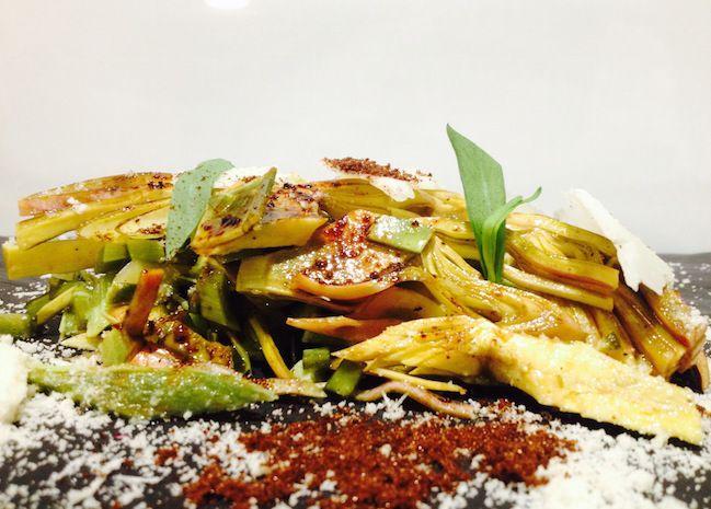 Insalata di carciofi, dragoncello, mandorle e nocciole | Food Loft - Il sito web ufficiale di Simone Rugiati